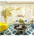 4 Color Acrylic Material Tree Pattern Left Side Living Room 3D Wall Sticker