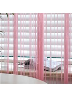 Door Decoration String Curtain Sheer Thread Room Divider Pink