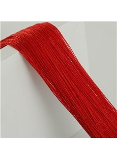 Red String Curtain Room Thread Divider Door Decoration