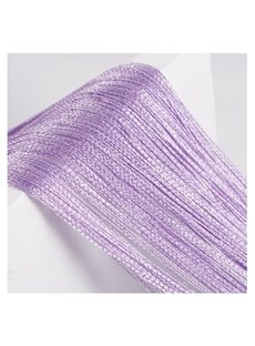 3 Degree of Purple String Curtain Sheer Thread Divider Door Decoration