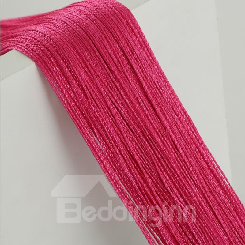Pink and Red String Curtain Decor Sheer Curtains Room Divide
