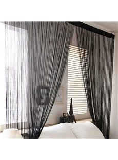 Pure Black/Gray String Curtain Room Divider Door Decoration