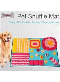 Dog Snuffle Mat Slow Feeding Dog Cat Food Mats Nosework Pet Activity Training Blanket
