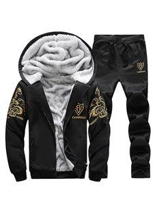 Jacket Pants Print Sports Style Zipper Long Sleeve Men's Tracksuits