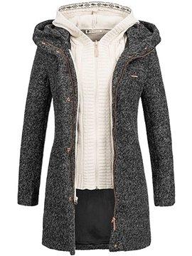 Double-Layer Slim Model Office Lady Style Zipper Jacket