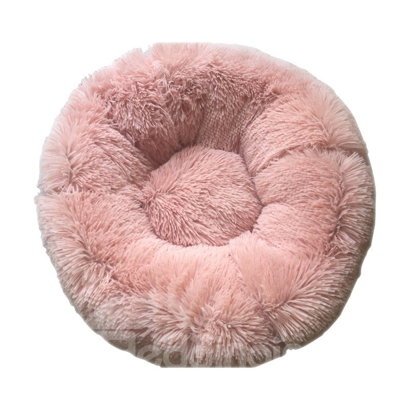 Warm Super Soft Long Hair Round Depth Pet Bed