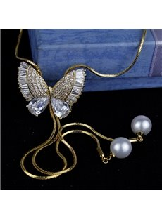 High-end Elegant Fashion Butterfly Tassel Sweater Chain