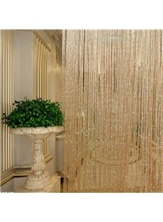 Champagne Shining String Sheer Curtain Flat Silver Room Divider