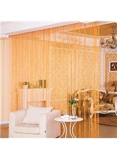 Orange String Sheer Curtain Flat Silver Room Divider