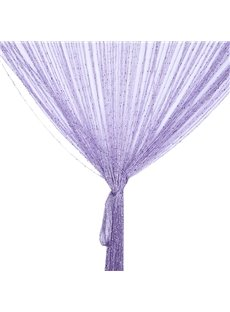 Purple Shining String Sheer Curtain Flat Silver Room Divider