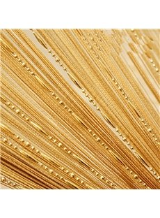 Champagne Tassel String Sheer Curtain Room Divider