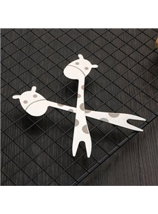 Cute Giraffe Cartoon Stainless Steel Fruit Fork