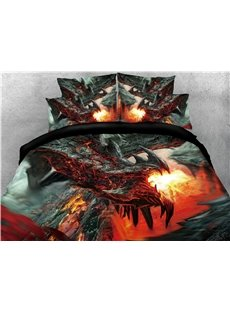 Black_Dragon_Spouting_Fire_Printed_4Piece_3D_Bedding_SetsDuvet_Covers