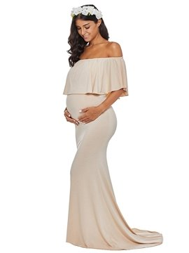 Maternity Fitted Gown Photography Dress