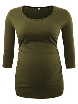 Women's 3/4 Sleeve Scoop Neck Maternity T-Shirts