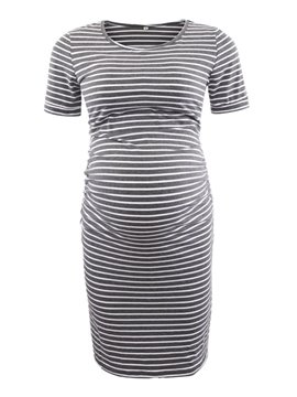 Women's Short Sleeve Maternity Bodycon Dress