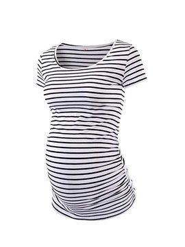 Women's Stripe Crew Neck Maternity T-Shirts