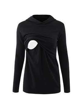 Women's Nursing Long Sleeve Breastfeeding Tee Shirt