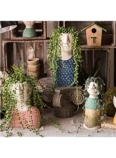 Art Portrait Sculpture Flower Pot Flower Garden Decoration