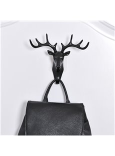 Decorative Deer Head Resin Crafts Wall Decoration Key Coat Hook