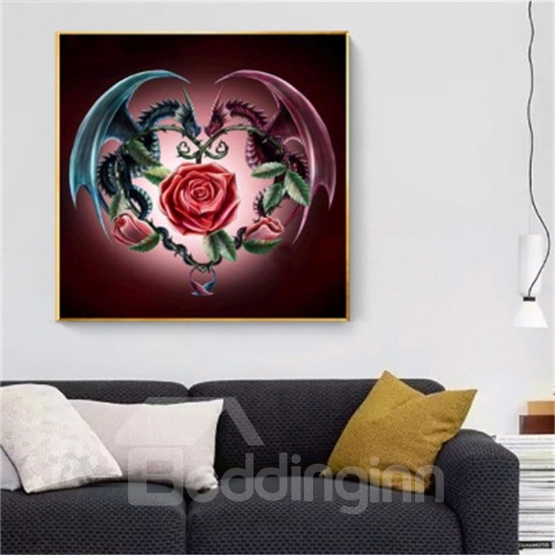 Waterproof PVC Delicate Dragon DIY Pattern Home Decor Wall Print