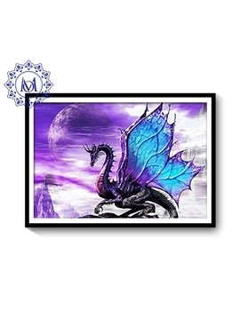DIY Waterproof PVC Delicate Dragon Pattern Home Decor Wall Print