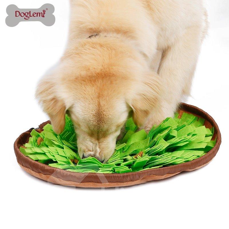 Pet Dog Smell Training Sniffing Feeding Round Mat