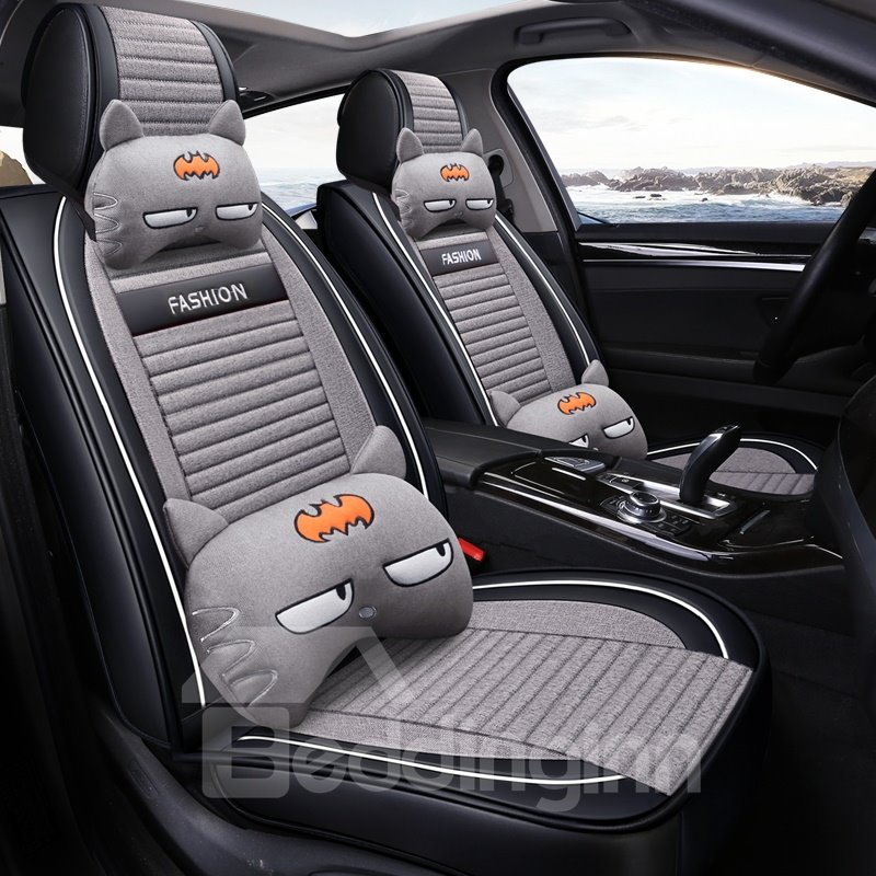 Comfortable Soft Creative Eyes Pattern Universal Fit Car Seat Covers