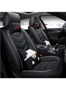Comfortable Soft Creative Cat Pattern Universal Fit Car Seat Covers