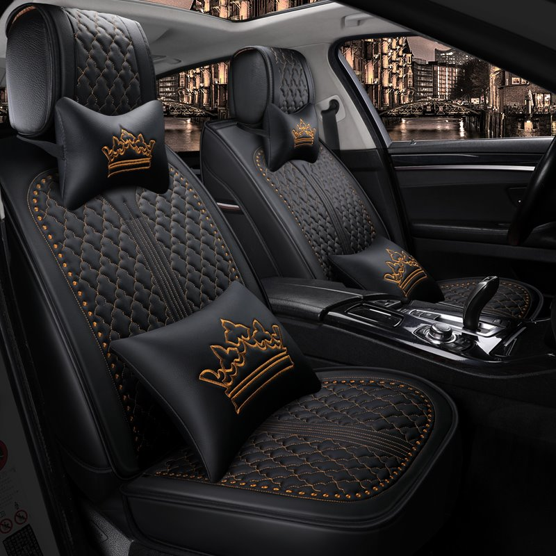 Simple Design Crown Pattern Universal Fit Car Seat Covers