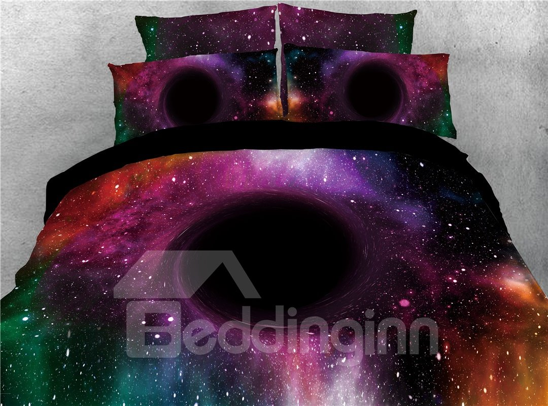 Magical Spiral Galaxy Printed 3D 4-Piece Bedding Sets/Duvet Covers
