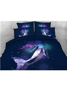Charming_Galaxy_Mermaid_Printed_4Piece_3D_Bedding_SetsDuvet_Covers