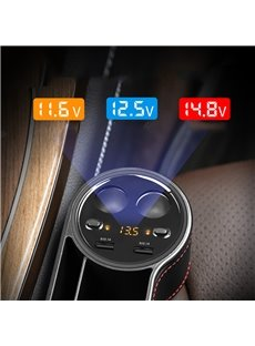 Modern Multi-function Dual USB Car Charger With Car Seat Slot Storage Box