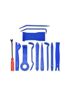 Car Dash Radio Audio Trim Removal Tool Kits 12Pcs Blue