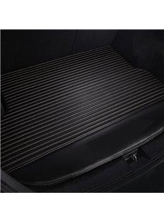Simple Solid Stripes PVC Anti-slip Car Trunk Mat For Auto.