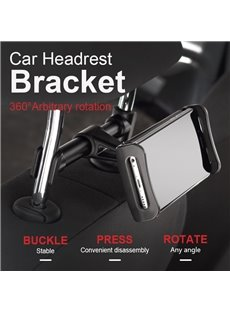 360 Degree Rotation Adjustable Car Headrest Bracket
