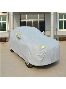 Silver Full Car Body Cover Non-Woven Fabrics Car Sun Shades