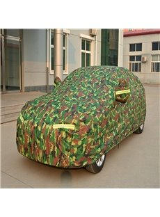 Green Full Car Body Cover Non-Woven Fabrics Car Sun Shades