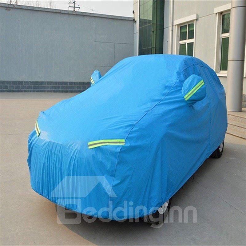 Blue Full Car Body Cover Non-Woven Fabrics Car Sun Shades