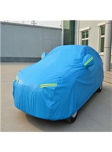 Blue Full Car Body Cover Non-Woven Fabrics Car Sun Shades