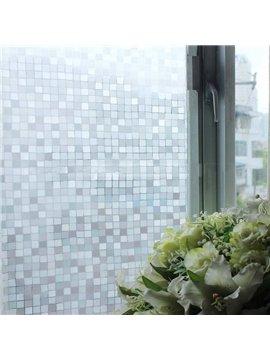 Static Decorative Plaid Privacy No Glue Window Film