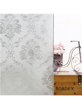 Static Floral Decorative Privacy Window Films for Glass