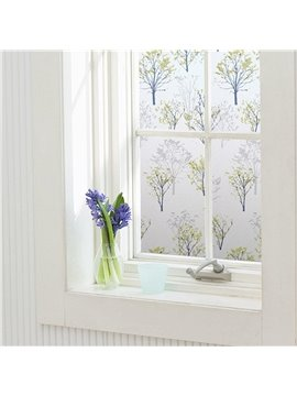 Static Trees Decorative Privacy Window Films for Glass