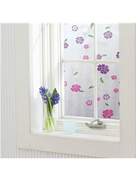 Static Decorative Privacy Floral Window Films for Glass