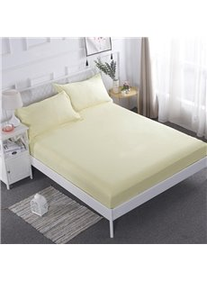 Three Color Solid Pattern Waterproof Mattress Protector Fitted Sheet