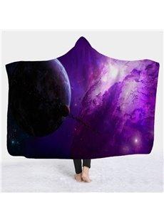 Fantastic 3D Cosmic Galaxy View Wearable Hooded Blanket