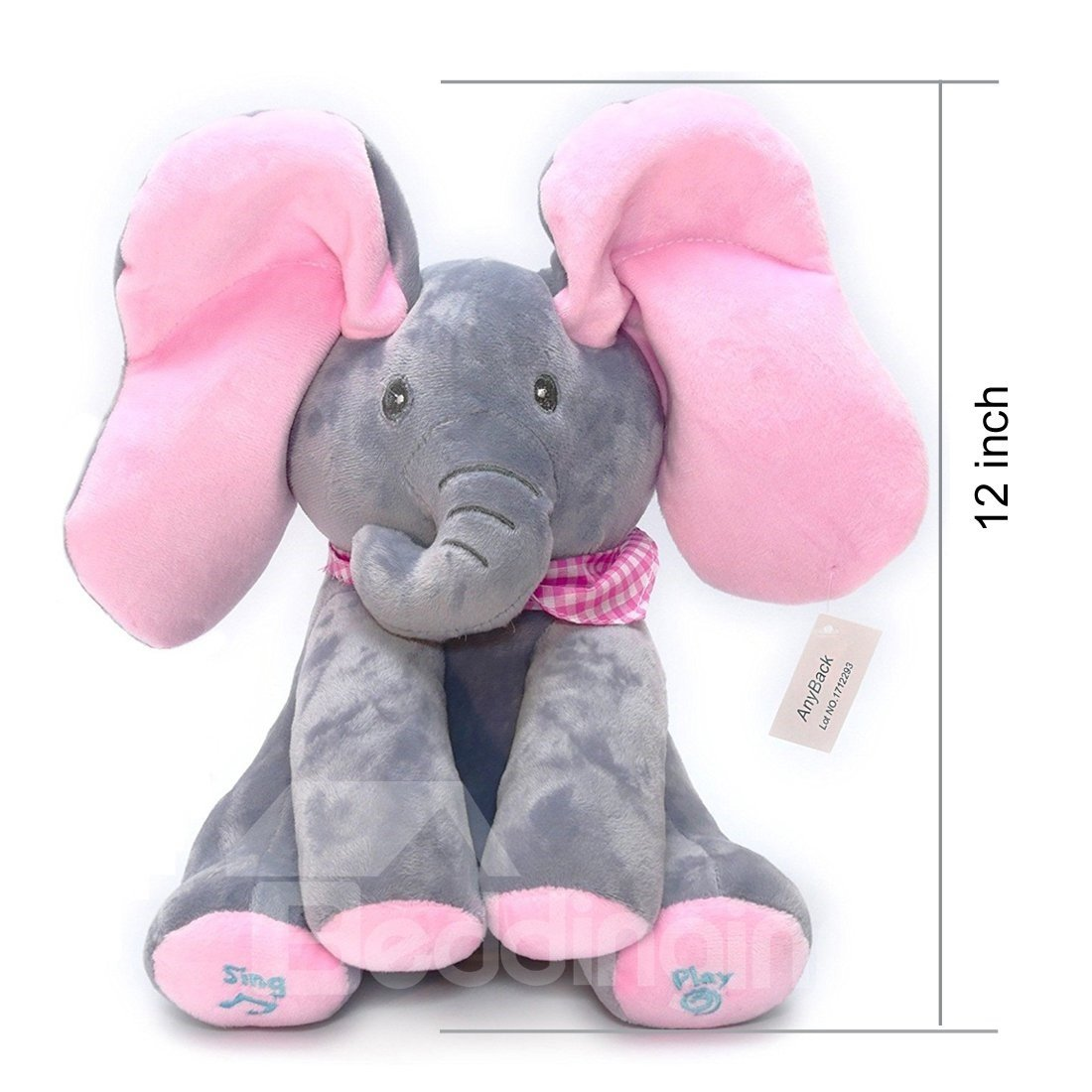 Interactive Elephant Electronic Plush Toy Sings & Plays Peek-A-Boo Pets Toys