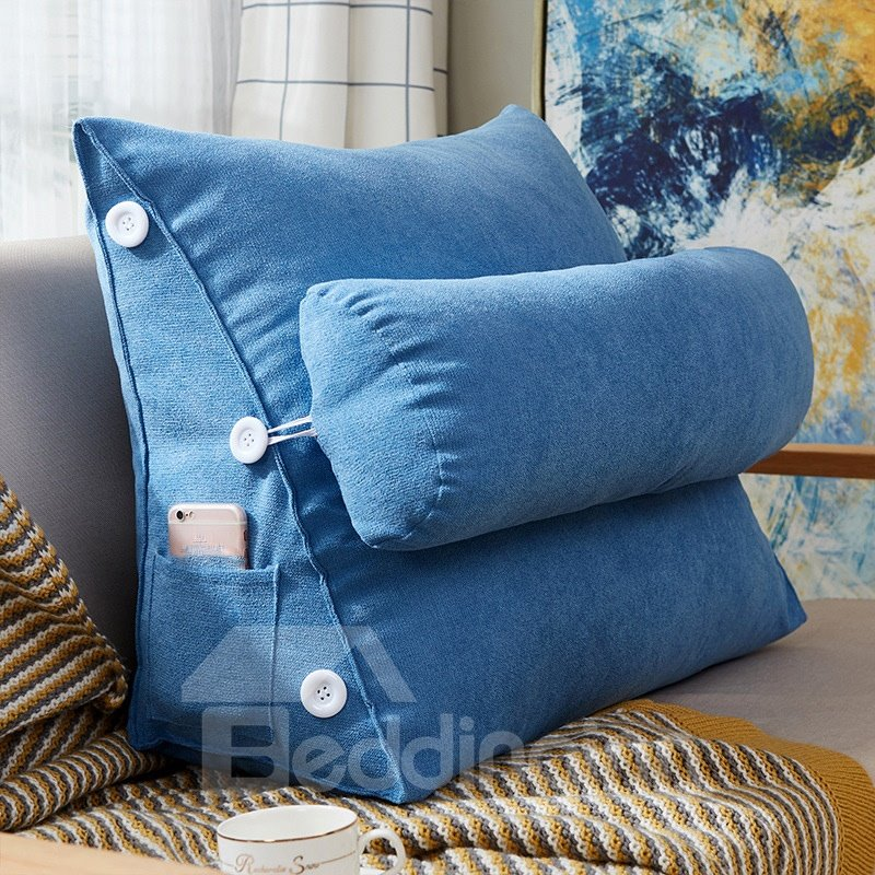 Adjustable Back Wedge Cushion 9 Colors Pillow with Pocket for Sofa Bed Office Endurable Skin-friendly All-Season Adjustable Back Wedge Cushion 9 Colors Pillow with Pocket for Sofa Bed Office Endurable Skin-friendly All-Season