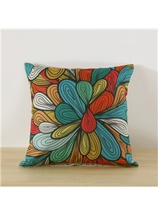 Floral Pattern Printed Decorative Cushion Throw Pillow