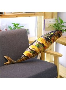 Amusing 3D Simulation Tasty Food Grilled Fish Plush Pillow Cushion